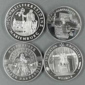 """Lot Medaillen, bestehend aus: """"Goethe und Schiller in Waimar"""", Kyffhäuser - Kaiser Barbarossa"""" und"""