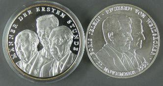 Zwei Silbermedaillen: 1 x Boris Jelzin mit Richard von Weizäcker 22. Nov. 1991 und Männer der ersten