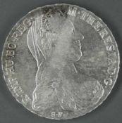 Österreich 1780, Maria - Theresien - Taler. Silber. Gewicht. ca. 28,1 g.