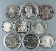 """Lot Münzen /Medaillen, bestehend aus: 2 x Gibraltar 1993, 2,8 Ecu """"Eurotunnel"""", Durchmesser 38,6 mm."""