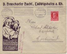 Altdeutschland Bayern 1917, Mi. - Nr. 115 Firmen - Reklamebrief mit Zensurstempel der