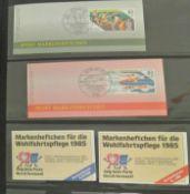 Markenheftchen Bund und Berlin postfrisch und gestempelt, Sonder Markenheft Rotes Kreuz Sport