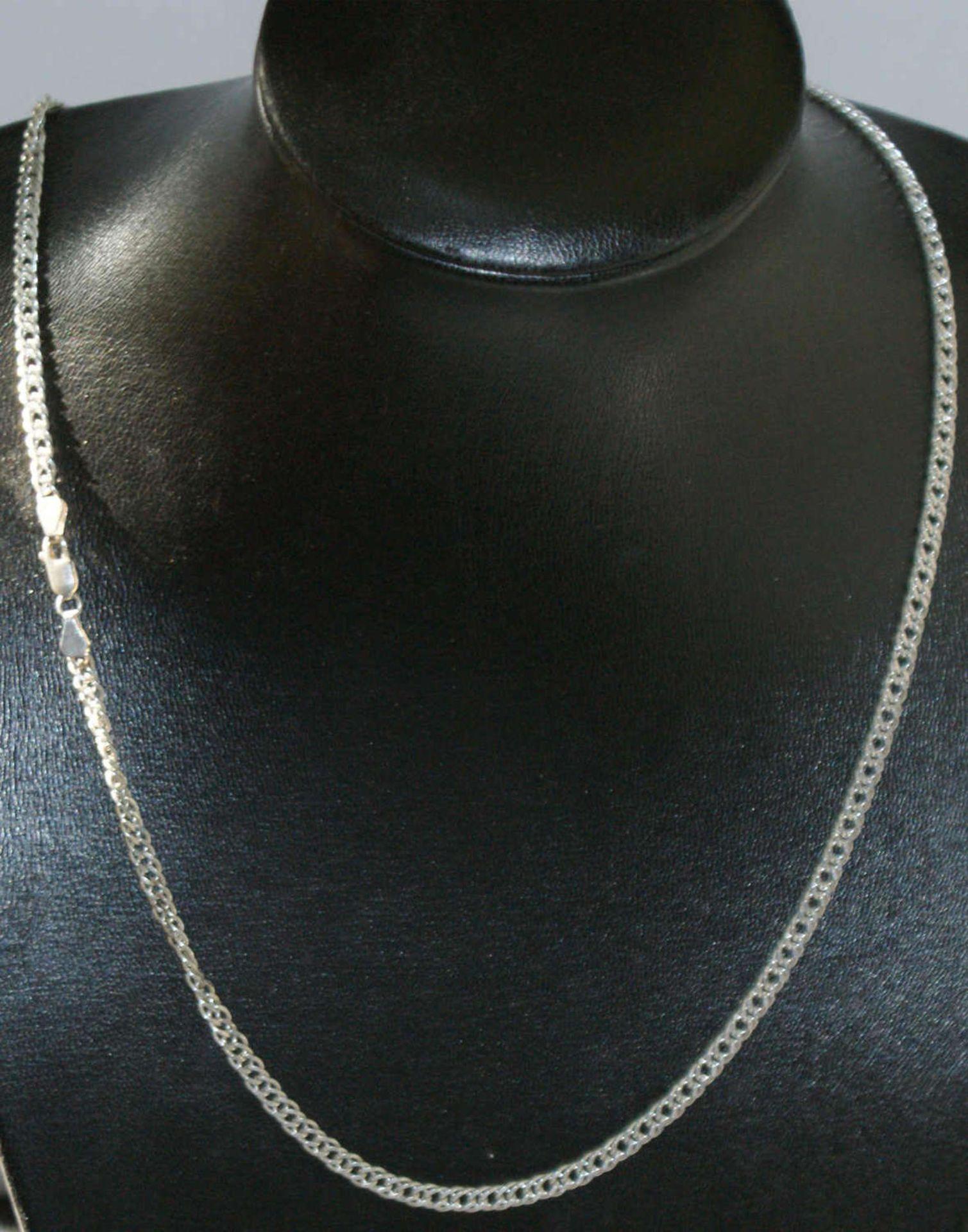 Schmuckset, 925er Silber, bestehend aus 1 Kette, Länge ca. 44 cm, sowie 1 Armband ca. 19 cm. Gewicht