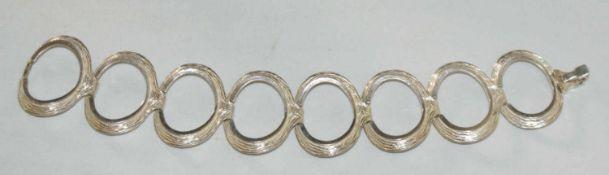 Armband, 900er Silber, Länge ca. 20 cm. Sehr moderne Form. Gewicht ca. 41 gr