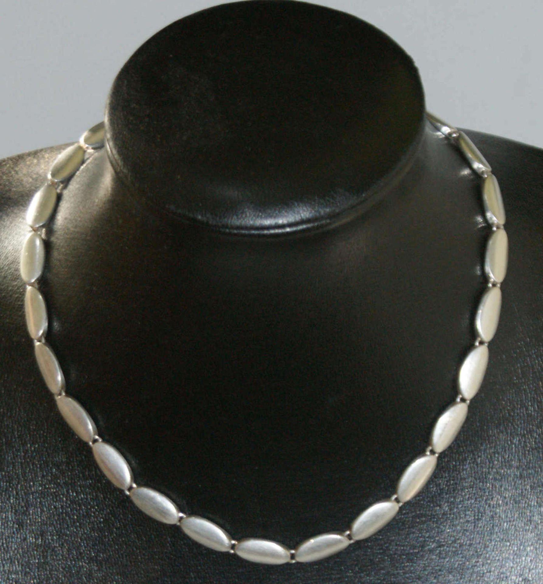Fossil-Kette, 925er Silber, Länge ca. 45 cm, Gewicht ca. 73 gr