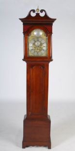 Lot 1 - A George III mahogany longcase clock, Allan Honie, Irvine, the brass dial with silvered chapter ring