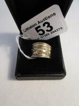 Lot 53 - Designer silver set ring