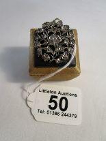 Lot 50 - Fine early 19C rose cut diamond brooch pendant