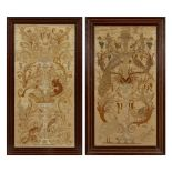 Lot 17 - WALTER CRANE (1845-1915) FOR THE ROYAL SCHOOL OF NEEDLEWORK TWO EMBROIDERED PANELS, CIRCA 1876
