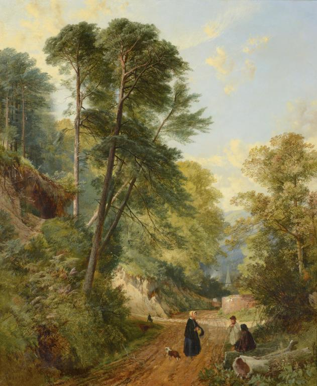 Lot 913 - FREDERICK WILLIAM HULME (1816-1884) AT SHERE SURREY signed, dated 1856 and inscribed, oil on canvas,