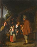 Lot 914 - FOLLOWER OF JAN STEEN AN ITINERANT MUSICIAN oil on canvas, 47 x 38cm ++In good restored condition,