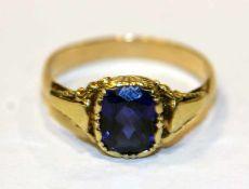 14 k Gelbgold Ring mit Spinell ?, Gr. 54, 2,4 gr.