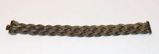 14 k Gelbgold Armband in Flechtoptik, 38,7 gr., L 20 cm