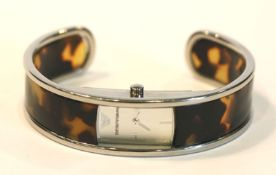 Emporio Armani Spangen-Damen-Armbanduhr mit Schildpattoptik, D 6 cm, intakt