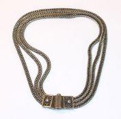 Collierkette, 3-reihig, 835 Silber, 65 gr., L 35 cm