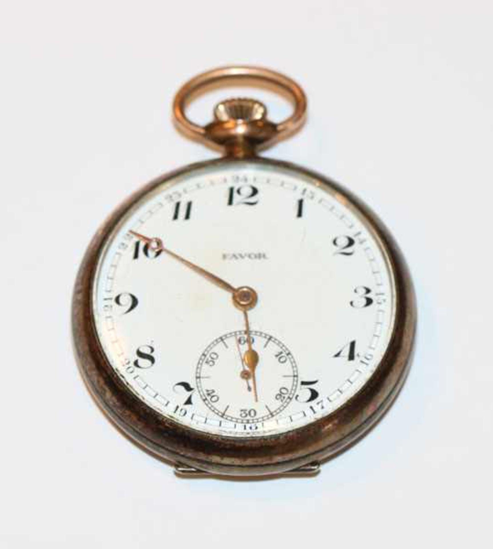 Los 6 - Taschenuhr, Favor, 800 Silber, nicht intakt, D 4,5 cm, Tragespuren