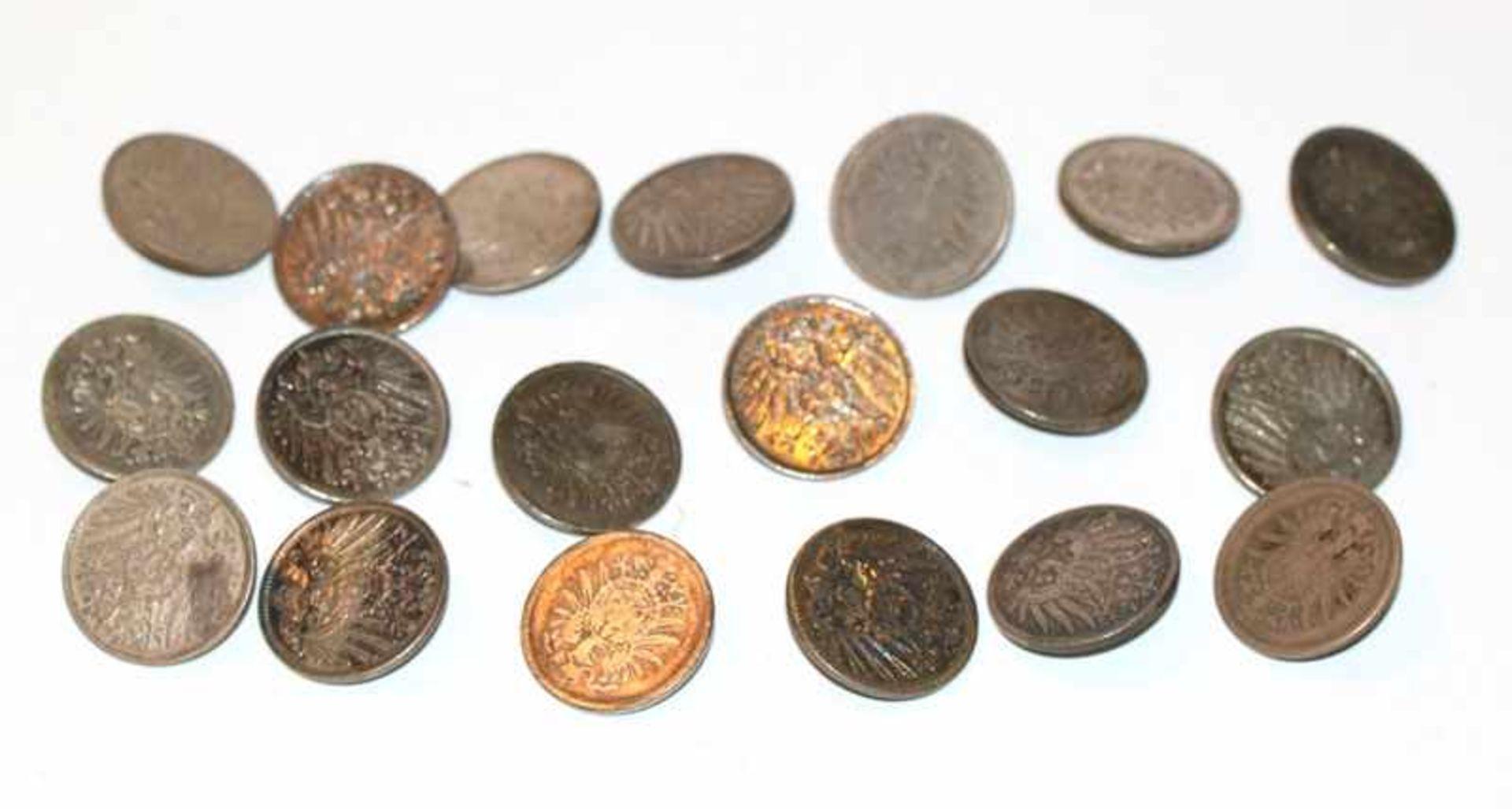 20 Silberknöpfe, 1 Reichsmark, 112 gr.