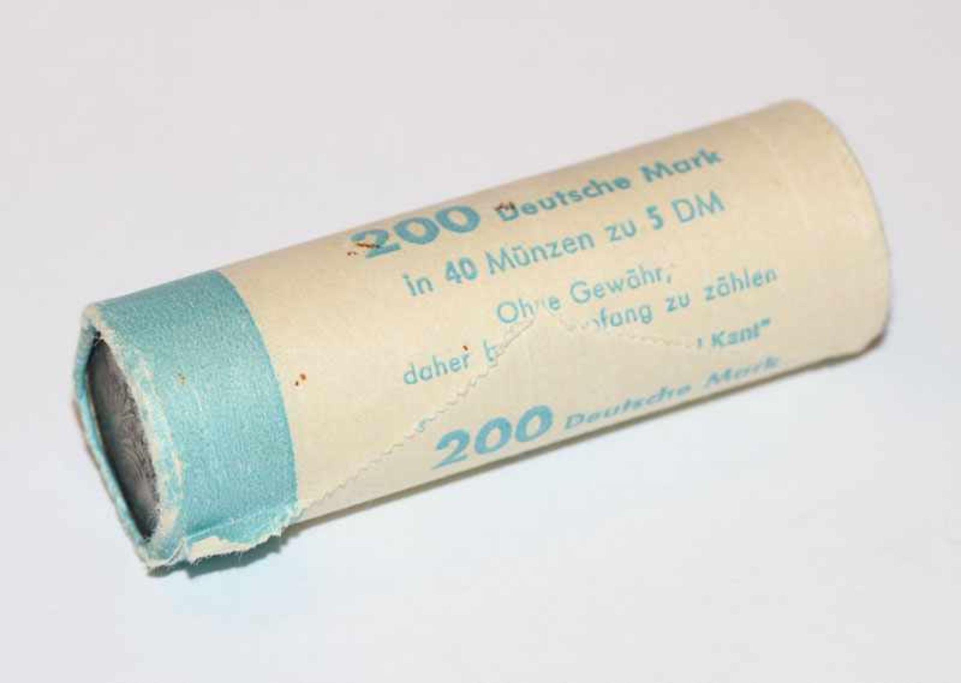 1 Bankrolle 40 x 5 DM Emanuel Kant, unzirkuliert ?, 1974