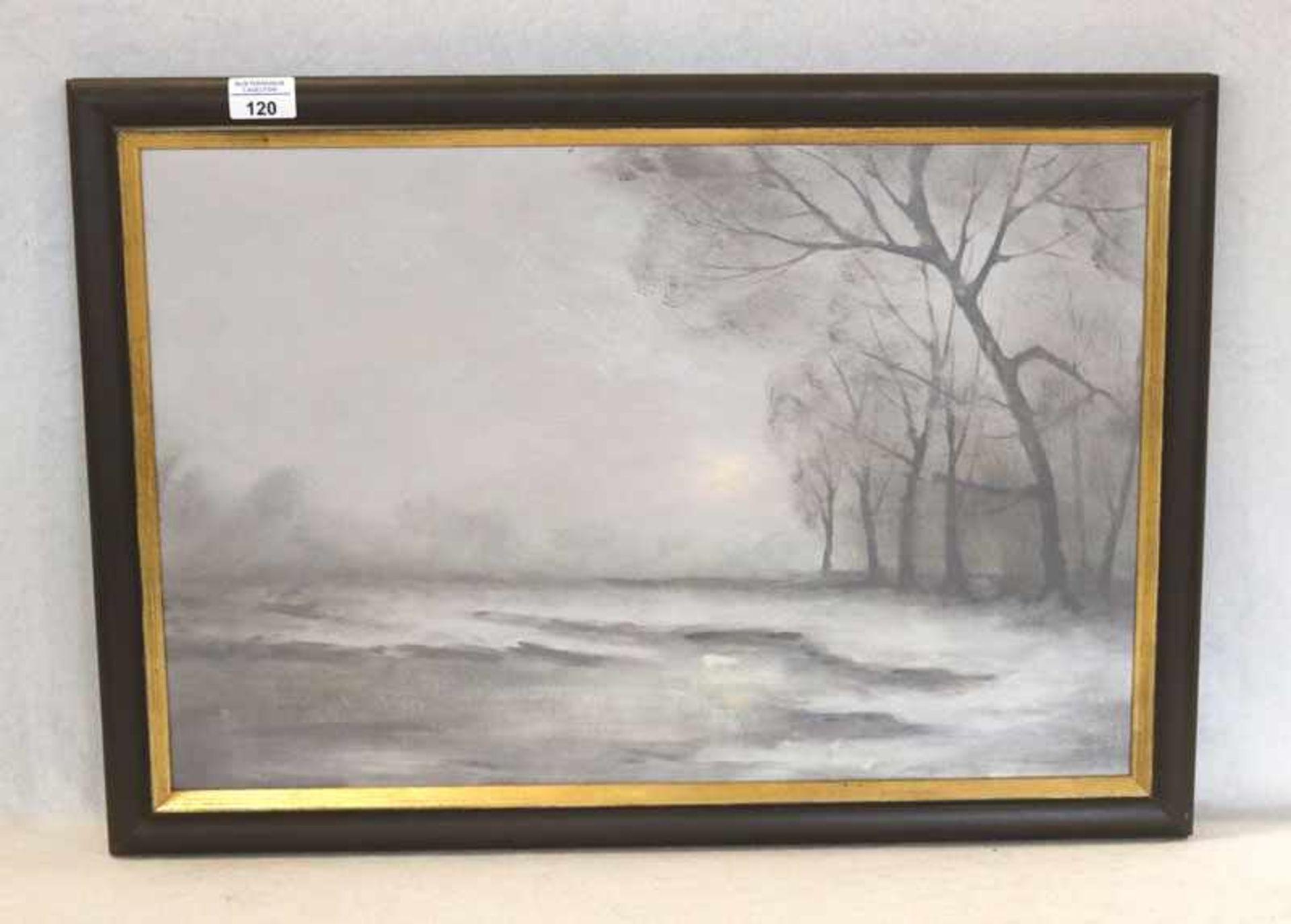 Gemälde ÖL/Hartfaser 'Abendstimmung', signiert C. (Conrad) Sevens, * 1940 Düsseldorf , 1962 - 1965