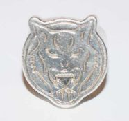 Massiver Silber Ring mit graviertem Tigerkopf, 63 gr., Gr. 75