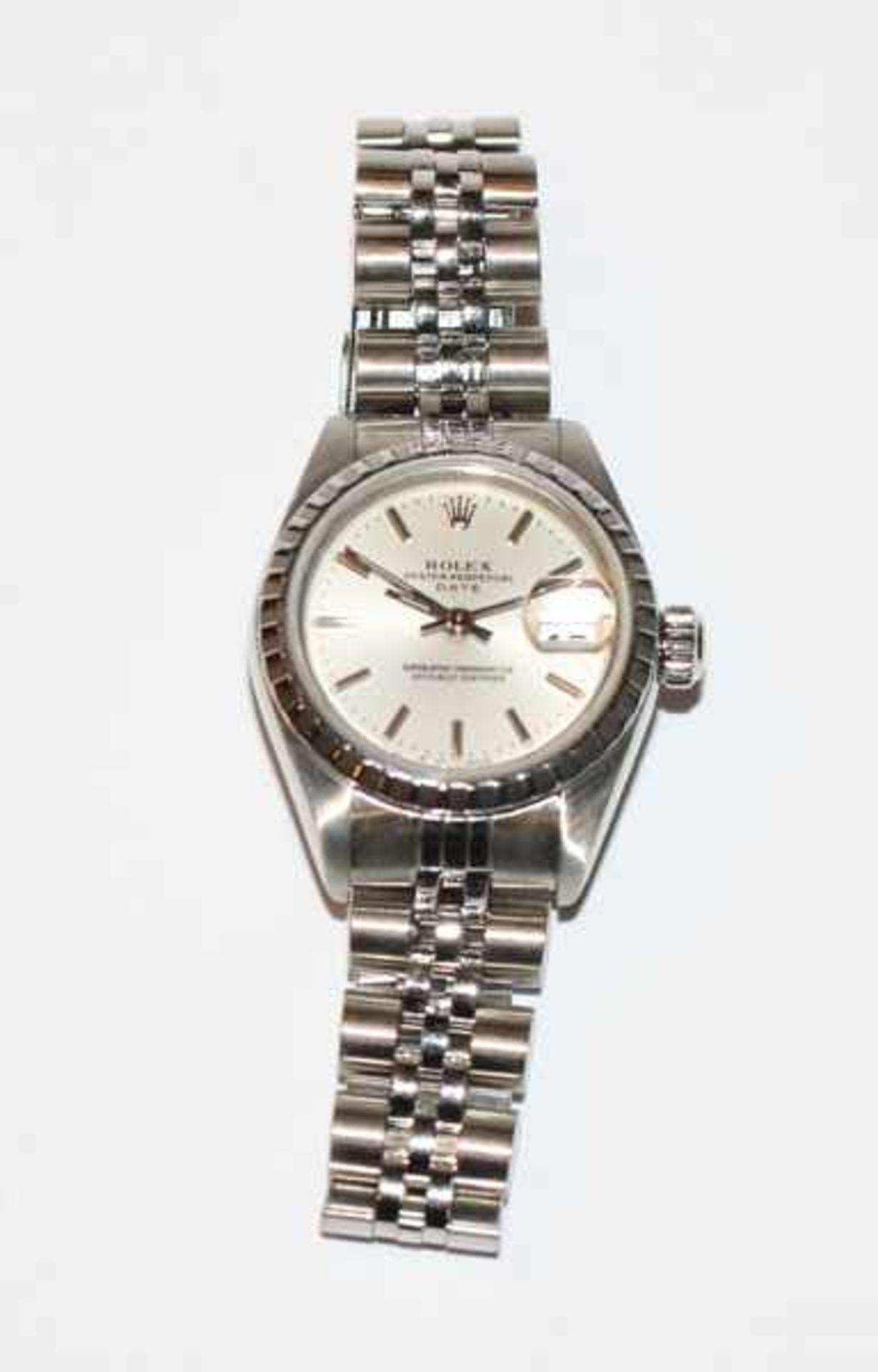 Rolex Damen-Armbanduhr 'Oyster Perpetual Datejust', Stahl, Automatik-Werk, mit Papieren in