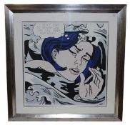 Lithographie 'I dont care! I`d rather Sink ... than call Brad for help! nach Lichtenstein, mit