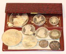 Konvolut von diversen Silber Münzen und Medaillen, ca. 370 gr. Feinsilber