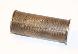 Döschen, Sterlingsilber, rundum graviert, H 7,2 cm, D 3 cm