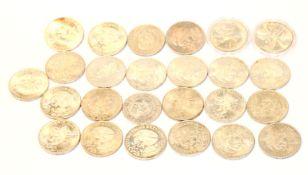 Konvolut von Mexikanischen Silbermünzen, ca. 427 gr. Feinsilber