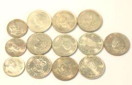 Konvolut von Silbermünzen, Süd Afrika, ca. 300 gr. Feinsilber