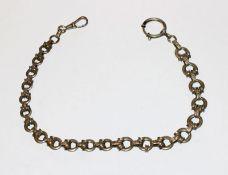 Silber Uhrenkette in verlaufender Form, L 34 cm