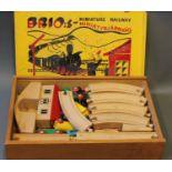 A Brio miniature railway set,