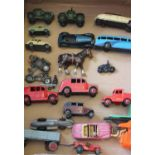 A collection of miscellaneous die cast model vehicles etc including military and Coventry Climax