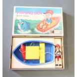 """A Clifford Toys battery operated """"Fishing Boy"""" game"""