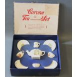 A boxed child's coronation tea set by Cauldon Potteries,