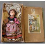 "A boxed French doll ""Les Poupees De Bretagne"", circa 1920's,"