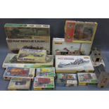 A collection of miscellaneous model kits,
