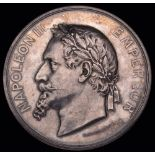 France, Exposition Universelle 1867, silver medal, by H. Ponscarme, reverse cartouche with die