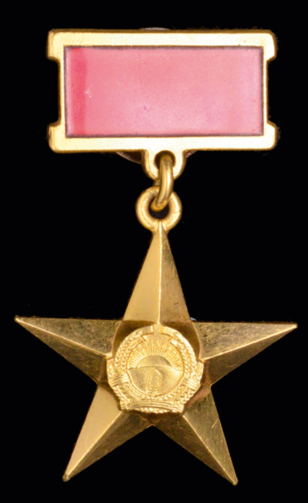 *Afghanistan, Hero of Revolutionary Afghanistan, type 2 (1987-92), in gold with red enamelled ribbon