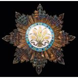 *China, Order of the Golden Grain, Second Class, breast star in silver, silver-gilt and enamels,