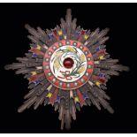 *China, Order of the Precious Brilliant Golden Grain, Second Class, Second Grade breast star, in