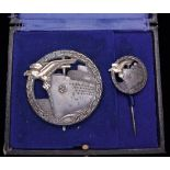 *Germany, A WW2 Blockade Runner's Badge & Lapel Pin Set, designed by Otto Placzek of Berlin, and