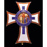 *Greece, Order of St George and Constantine, breast star in silver-gilt and enamels, unsigned, 55