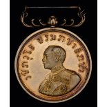 *Thailand, Medal of Merit, Rama VI type (issued 1911-1927), 'gold' award struck in silver-gilt, 31.