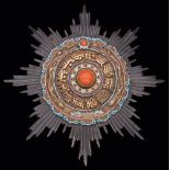*China, Order of the Double Dragon, Second type, Second Class, First Grade breast star, in silver,