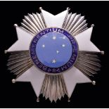 Brazil, Order of the Southern Cross, Grand Officer's set of insignia by La Royale, Rio, in silver-