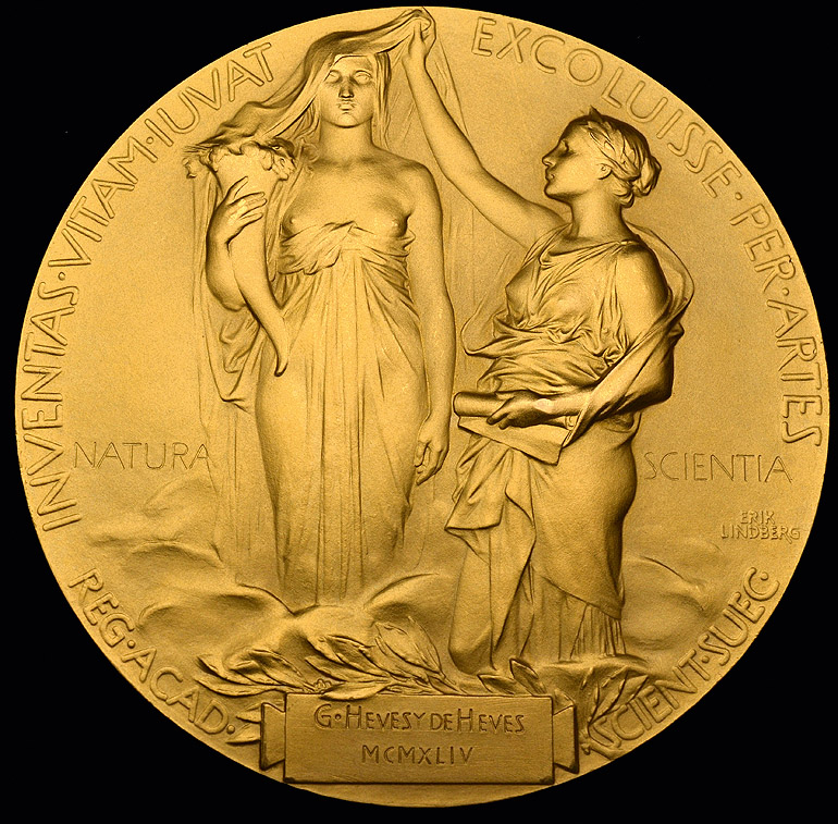The Nobel Prize in Chemistry and three further medals awarded to George de Hevesy (1885-1966), - Image 2 of 17