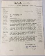 "Lot 223 - BEATLES LETTER OF COMPLAINT - original hand signed letter written from the ""Bel-Air Association"" to"
