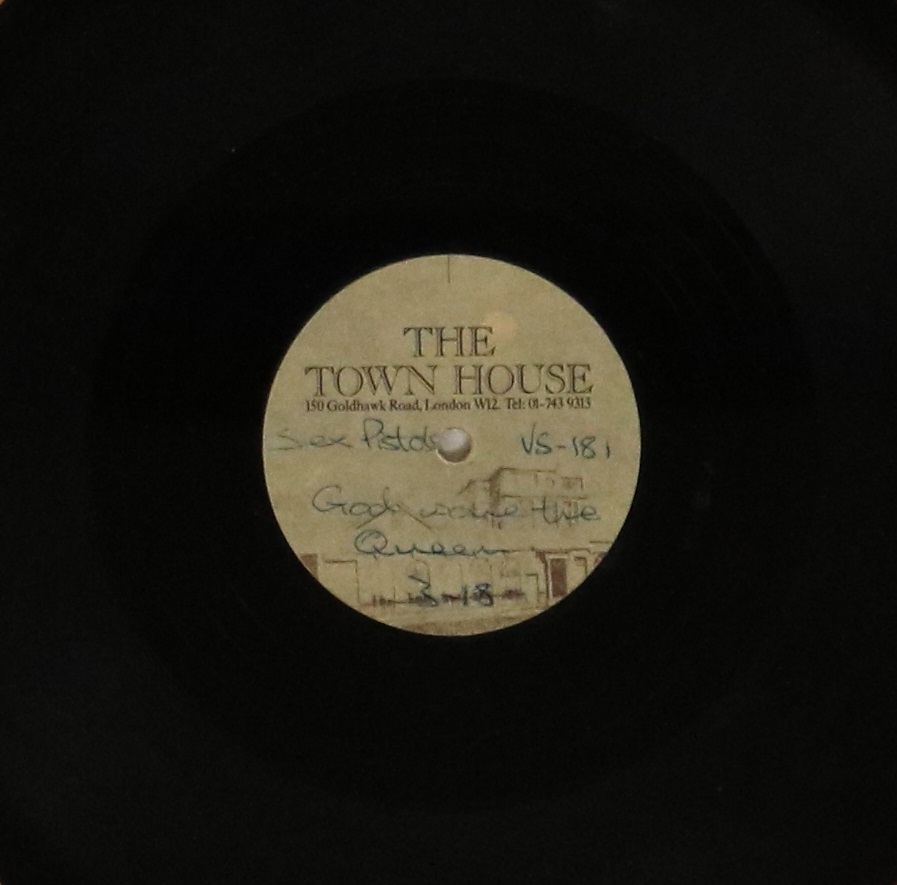 "Lot 100 - THE SEX PISTOLS - GOD SAVE THE QUEEN - TOWNHOUSE 10"" ACETATE - Unbelievable chance to bid on this"
