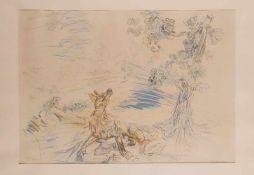 Oskar Kokoschka (Pöchlarn, Niederösterreich 1886 - 1980 Montreux, Schweiz) 'Der Fuchs und die sauren